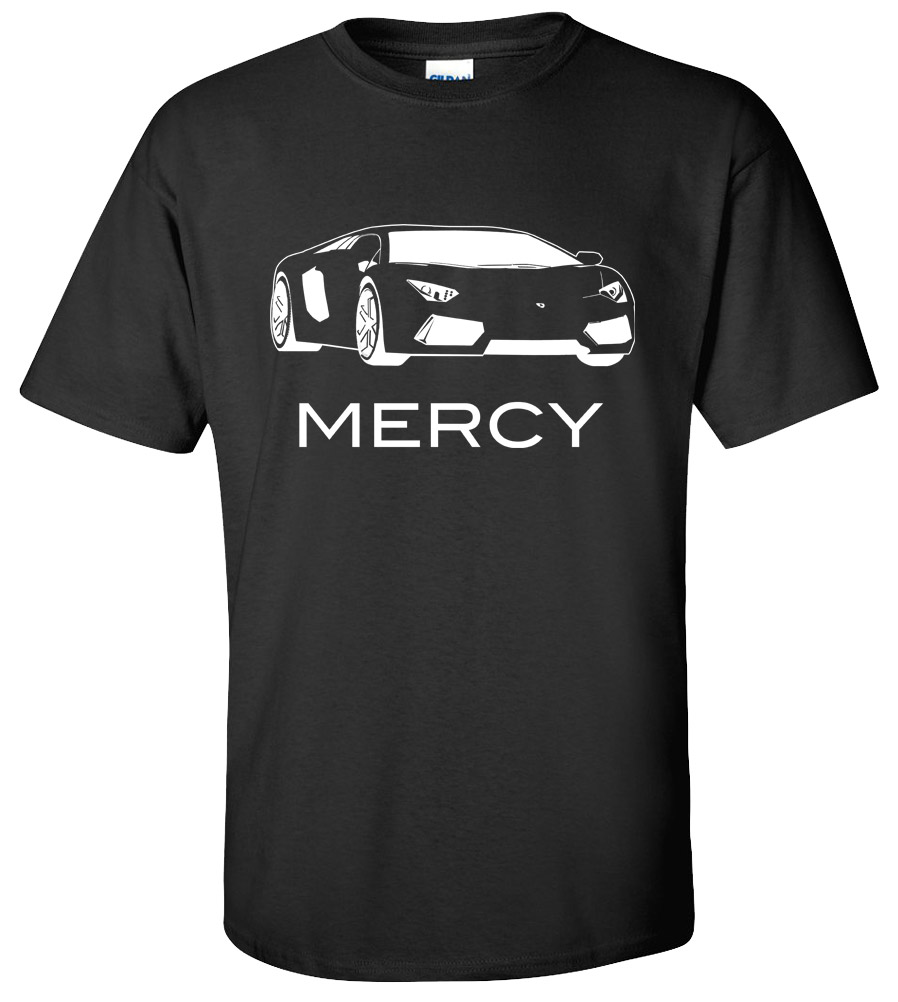 lamborghini mercy exotic car t shirt super fast and