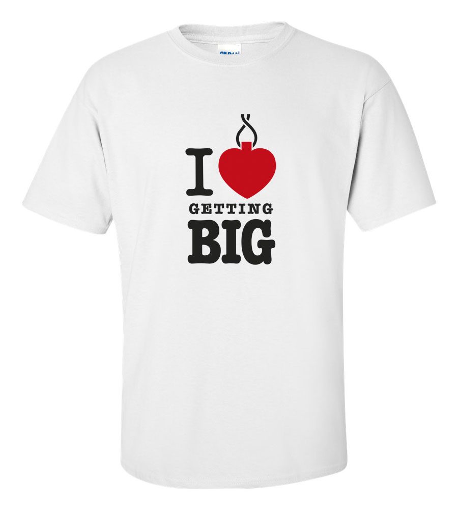 Amore t shirts i love getting big t shirt sport for I love sports t shirt