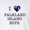 I Love Falkland Island Boys Long Sleeve T-Shirt