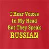 I Hear Voices In My Head But They Speak Russian  Crew Neck Sweatshirt