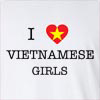 I Love Vietnamese Girls Long Sleeve T-Shirt