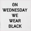 On Wednesday We Wear Black Hooded Sweatshirt