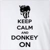 Keep Calm And Donkey On Long Sleeve T-Shirt