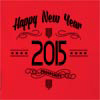 Happy New Year 2015 Hooded Sweatshirt