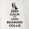 Keep Calm and Love a Bearded Collie Crew Neck Sweatshirt