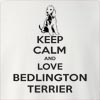 Keep Calm and Love a Bedlington Terrier Crew Neck Sweatshirt