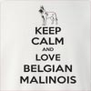 Keep Calm and Love a Belgian Malinois Crew Neck Sweatshirt