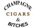 Champagne Cigars and Bitches T Shirt