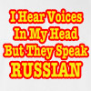 I Hear Voices in My Head But They Speak Russian Funny T Shirt