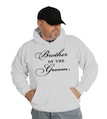 Brother of the Groom Wedding Hooded Sweatshirt