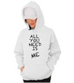 All You Need Is Me Wedding Hooded Sweatshirt