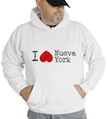 I heart love Nueva York Hooded Sweatshirt