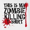 Halloween This is My Zombie Killing T-shirt Funny
