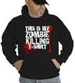 Halloween This is My Zombie Killing Hooded Sweatshirt