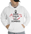 Halloween Keep Calm Kill Zombies Hooded Sweatshirt