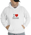 I Love Blogs Hooded Sweatshirt