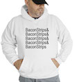 Bacon Strips Hooded Sweatshirt