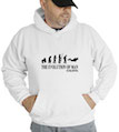 The Evolution Of Man Scuba Diving Hooded Sweatshirt