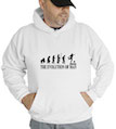 The Evolution Of Man Soccer Hooded Sweatshirt