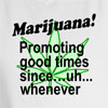 Marijuana Promoting Good Times Hooded Sweatshirt
