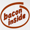 Bacon Inside T-shirt Funny College Tee
