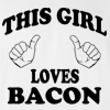 This Girl Loves Bacon T-shirt Funny College Tee