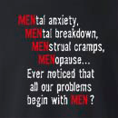 All Our Problems Begin With Men Crew Neck Sweatshirt