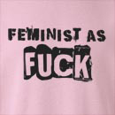 Feminist As Fuck  Crew Neck Sweatshirt