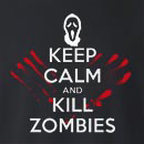 Halloween Keep Calm And Kill Zombies Crew Neck Sweatshirt