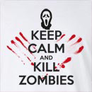 Halloween Keep Calm And Kill Zombies Long Sleeve T-Shirt