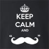 "Keep Calm And ""Mustache"" Crew Neck Sweatshirt"