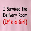I Survived The Delivery Room (It's A Girl) Crew Neck Sweatshirt