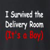 I Survived The Delivery Room(It's A Boy) Crew Neck Sweatshirt