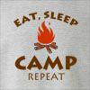 Eat Sleep Camp Repeat Crew Neck Sweatshirt