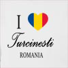 I Love Turcinesti Romania Hooded Sweatshirt