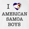 I Love American Samoa Boys T-Shirt