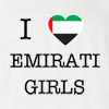 I Love Arab Emirates Girls T-Shirt