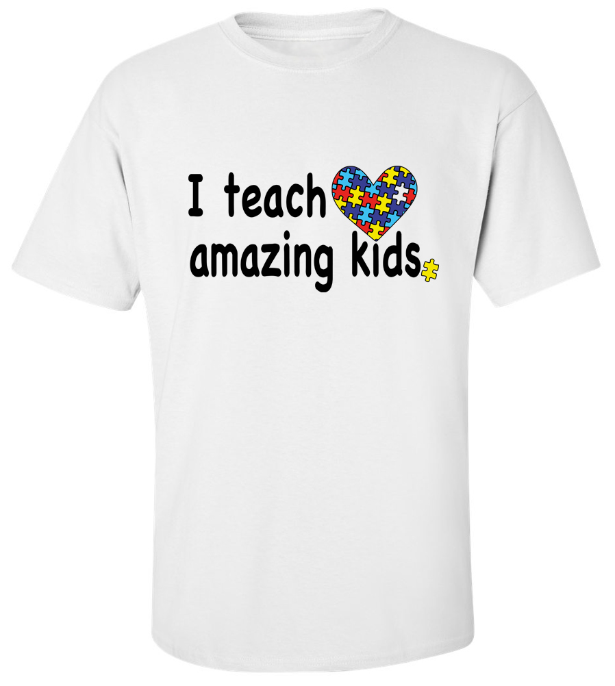 I Teach Amazing Kids Autism T Shirt