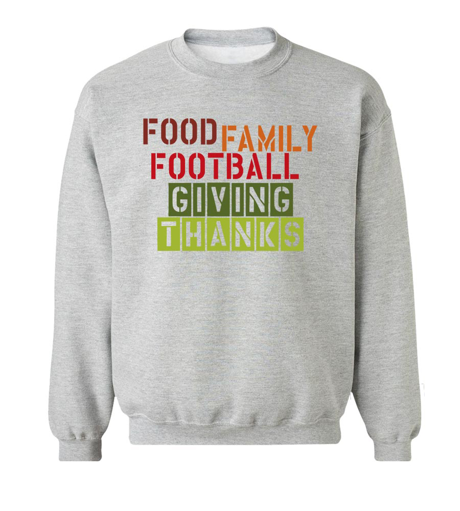 Food Family Football Giving Crew Neck Sweatshirt